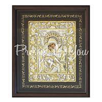 Икона серебряная Богородицы «Достойно есть» (Милующая) Loudaros, 42х35,5 см