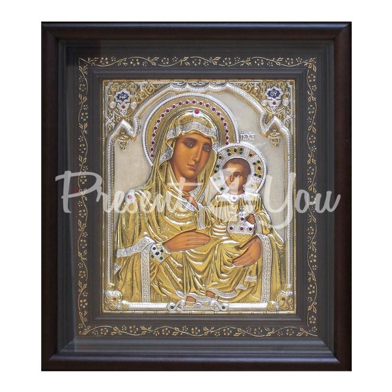 Иерусалимская икона Божией Матери Loudaros, 42,5х37,7 см