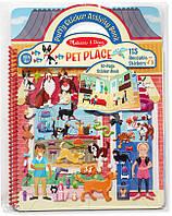 Объемные многоразовые наклейки Melissa & Doug Дом для животных (MD19429)