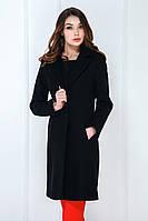 Жіноче пальто класичне пресована шерсть чорний