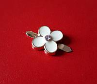 Украшение Цветок 4142 золото-белый