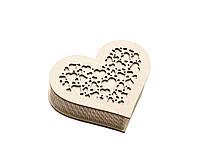 Шкатулка-сердечко Сердце с закрытой крышечкой маленькая