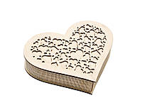Шкатулка-сердечко Сердце с закрытой крышечкой средняя