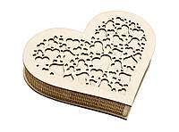 Шкатулка-сердечко Сердце с закрытой крышечкой большая