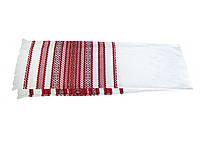Вышитый свадебный тканый рушник «Хлеб - соль» 135/33 см