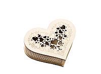 Шкатулка-сердечко Сердце с прорезной крышечкой маленькая, фото 1