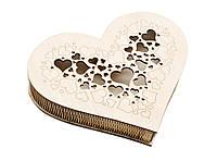 Шкатулка-сердечко Сердце с прорезной крышечкой большая, фото 1
