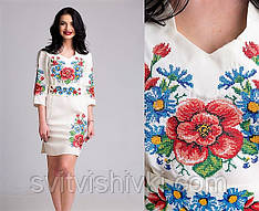 Жіноче вишите плаття в українському стилі
