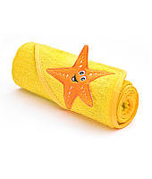 Полотенце с капюшоном Sensillo с 3D вышивкой 76х76 - yellow