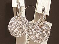 Серебряные серьги с фианитами. Артикул 902-00299