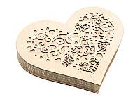Шкатулка-сердечко Орнамент с закрытой крышечкой большая, фото 1
