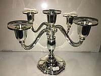 Подсвечник мельхиор на 5 свечей, фото 1