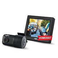 Комплект автомобильный видеорегистратор Gazer H714 + монитор MC135