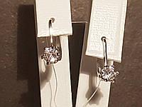 Серебряные серьги с фианитами. Артикул 902-00625, фото 1