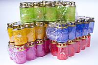 Лампадки Пасхальные разных цветов 80/50 мм, пластиковый корпус со свечой, фото 1