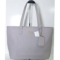 Брендовая женская сумочка Prada серая большая