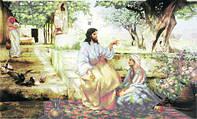 Схема для вышивки бисером «Христос у Марфы и Марии»