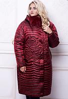 Зимнее двубортное плащевое пальто 52-60