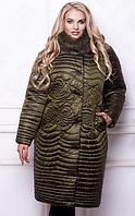 Зимнее двубортное плащевое пальто 52 54 56 58 60