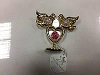 Статуэтка Crystocraft Swarovski голуби розовый камень