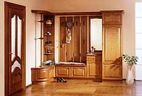 Мебель для коридоров и прихожих с фасадами массива