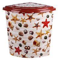 Угловая корзина для белья Морские звезды от Elif Plastik
