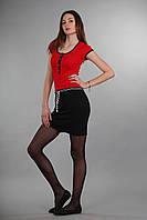 Модное спортивное платье с поясом Th 85 красного цвета