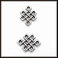 """Коннектор """"Кельтский узел"""" серебро (0,9х1,2 см) 30 шт в уп."""