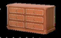 Комод классический оригинальный размер 142х32х80 см Флоренция 6Ш темная
