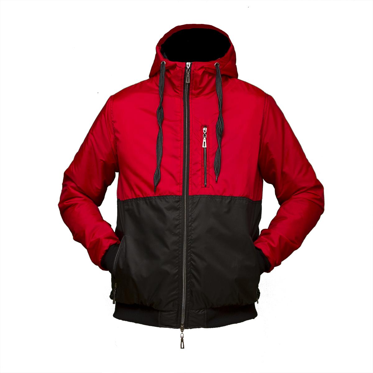 6e45d292078 Мужская красная куртка ветровка пр-во. Украина KD455 оптом и в ...