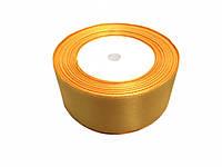 Лента атласная 4см, желтая 25 ярдов в рулоне