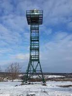 Вышки смотровые (сторожевые) высотой 18 метров для организации визуального контроля территории и установки сре