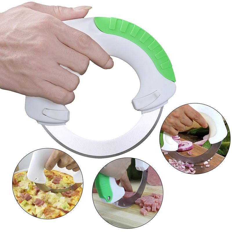 Циркулярный кухонный нож для удобной нарезки!