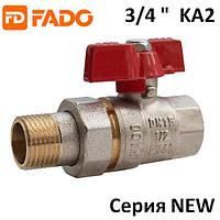 Кран с американкой 3/4'' New PN40 20 FADO