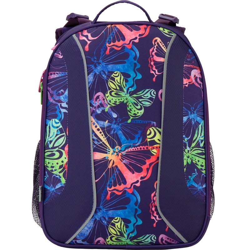 Рюкзак школьный каркасный (ранец) 703 Neon butterfly K17-703M-1