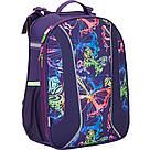 Рюкзак школьный каркасный (ранец) 703 Neon butterfly K17-703M-1, фото 2