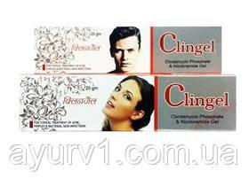 Клингель, Клиндамицин фосфат 1% и никотинамид 4% / Clindamycin Phosphate &Nicotinomide Gel /20 гр