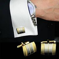 Мужские стильные классические запонки. Свадебные и модные. Хорошее качество. Доступная цена.  Код: КГ702