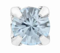 Кристаллы Swarovski в серебряных цапах rodium 17704 Light Azore