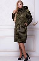 Женское стеганое пальто больших размеров 52 54 58 60