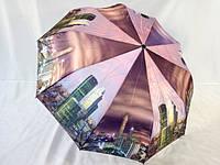 Женский атласный зонт с городами № 01MR от Mario