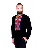 Вышитая рубашка мужская. Мужская рубашка в черном цвете. Вышитая рубашка. Вышиванка мужская.