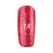 Гель-лак FOX Pigment №074 (красно-малиновый с крупными блестками), 6 мл