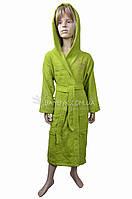 Подростковый халат с капюшоном Nusa №Princess-зеленый, фото 1