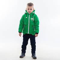 "Демисезонная курточка для мальчишек ""Мотоциклист"" , 98-122 рост"