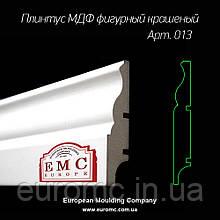 Белый плинтус МДФ 16х140х2700 мм напольный Киев