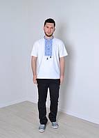 """Чоловіча футболка вишиванка біла """"Традиція"""""""