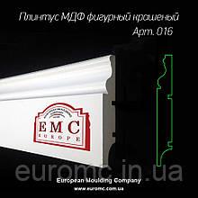 Плинтус МДФ 16х100х2700 мм фигурный белый