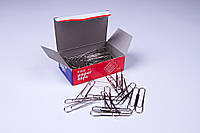 Скрепки канцелярские никель (50 мм/100 шт), скрепки для офиса, школы, дома.