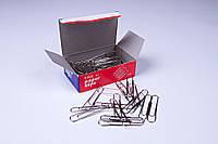 Скріпки канцелярські нікель (50 мм/100 шт), скріпки для офісу, школи, будинку.
